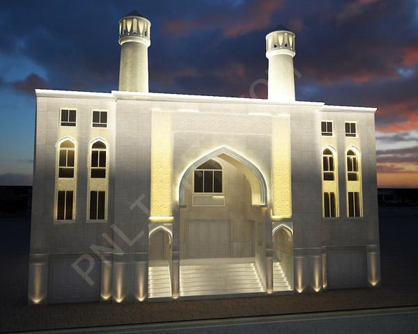 نورپردازی نمای مسجد