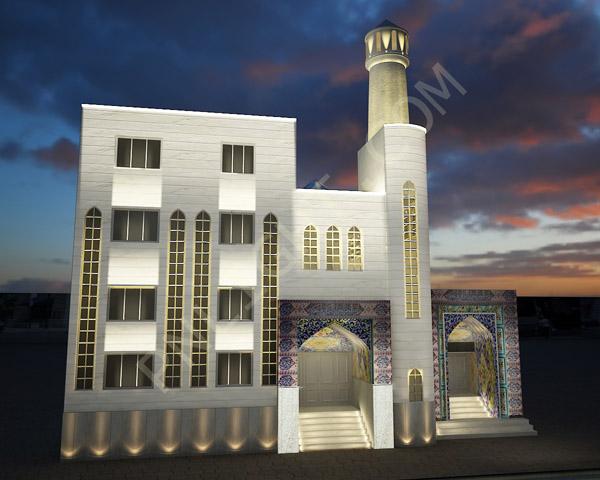 نورپردازی نمای خارجی مسجد