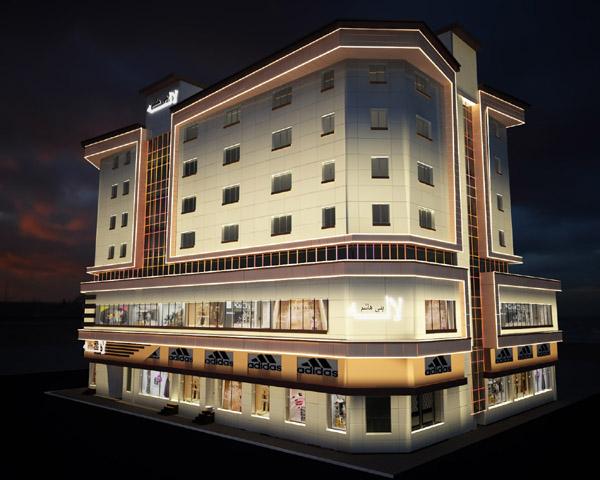 روشنایی نمای خارجی ساختمان