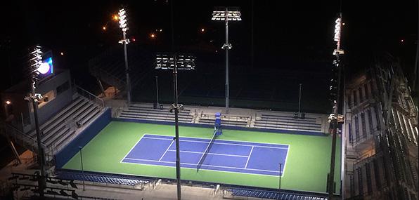 روشنایی زمین تنیس