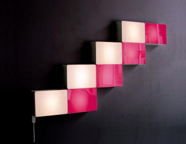 چراغ دیواری مکعبی