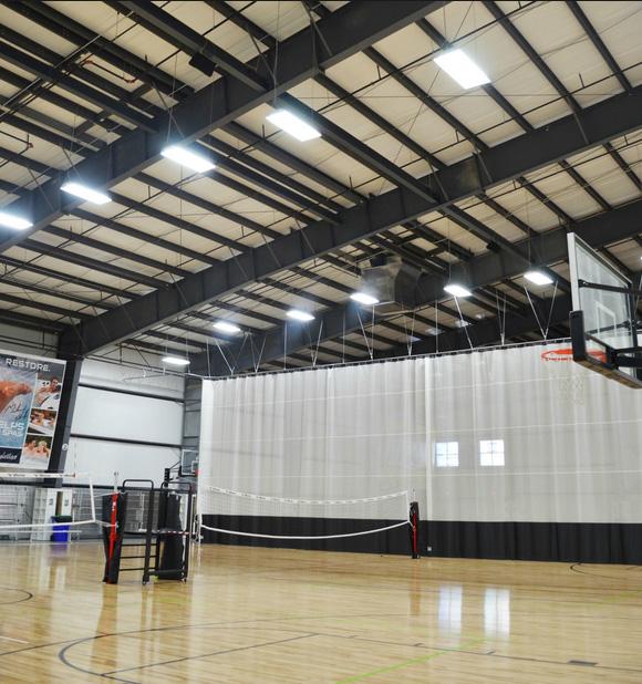 نورپردازی سالن ورزشی