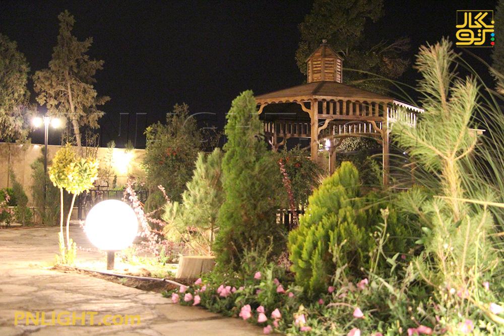 نورپردازی فضای سبز مسکونی