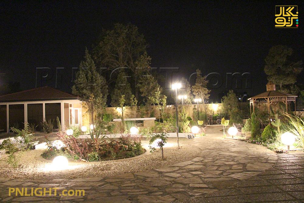 نورپردازی حیاط مسکونی